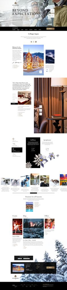 Clean medical web design Web design inspiration The St. Regis Aspen Resort by Peter Osmenda, via Behance cool web design Web Design Mobile, Web Ui Design, Graphic Design, Webdesign Inspiration, Website Design Inspiration, Web Layout, Layout Design, Image Layout, Mobiles Webdesign