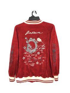 7215fcad886 Vintage SUKAJAN Velvet Tony Hawk Skateboarding Japan Map Embroidery Medium  Size. Grailed