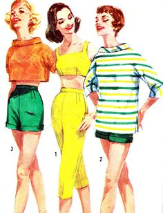 Vintage Sewing Pattern 1950s Simplicity 2075 Capri by paneenjerez, $16.00