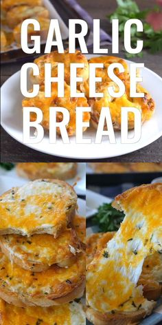 Garlic Cheese Bread is an easy garlic bread recipe loaded with three types of cheese, seasoned perfectly and is ooey gooey delicious. Bread Appetizers, Finger Food Appetizers, Appetizer Recipes, Finger Foods, Homemade Garlic Bread, Garlic Cheese Bread, Tasty Bread Recipe, Bread Recipes, Cooking Recipes