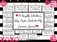 Printable Naughty Coupon Book, Naughty Valentines Day Gift for Him, Husband Valentines  Day Gift