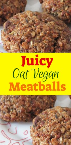 Everyone needs a go-to vegan meatball recipe that's just fantastic yet quick and easy to make – like this one! Gourmet Recipes, Whole Food Recipes, Vegan Recipes, Cooking Recipes, Vegan Food, Barbecue Recipes, Recipes Dinner, Veggie Meatballs, Vegetarian Meatballs