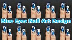 Blue Eyes Nail Art Des by KawaiiNailArt - Nail Art Gallery nailartgallery.nailsmag.com by Nails Magazine www.nailsmag.com #nailart