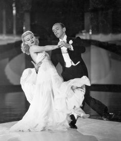 "Ginger Rogers and Fred Astaire dancing the ""Never Gonna Dance"" number in Swing Time  (George Stevens, 1936)"