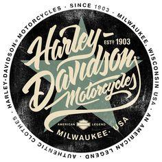 Harley Davidson Tee iIlustrations #harleydavidsonchoppersvintage