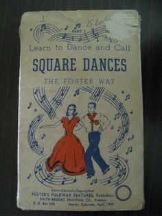 Square Dance Cards The Foster Way by AahhaFabricNVintage on Etsy, $18.00