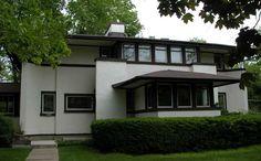 Mary M. W. Adams Residence 1905. Highland Park, Illinois. FLW. Prairie Style