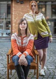 The Grete Cardigan Knitting pattern by Knitting Inna Cardigan Design, Cardigan Pattern, Fair Isle Knitting Patterns, Sweater Knitting Patterns, Knitting Books, Arm Knitting, Dress Gloves, Yarn Brands, Mantel