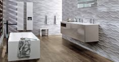 Bathroom Wall Tiles – That is Interesting, Tell Me More! Kitchen Wall Tiles, Ceramic Wall Tiles, Wall And Floor Tiles, Bathroom Wall, 3d Tiles, Porcelain Tiles, Bathroom Furniture, Porcelanosa Tiles, Modern Bathroom Design