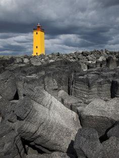 Selvogsviti Lighthouse, Reykjanes, Iceland, Polar Regions
