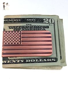 Engraved & Antiqued Copper Money Clip - American Flag - Husband gift, Boyfriend Gift, Stars & Stripes, Wallet, Gift For Him, Military - Groom fashion accessories (*Amazon Partner-Link)
