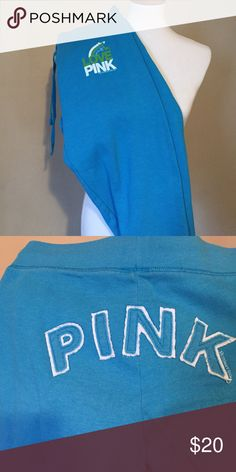 VS Pink Cropped Sweats Great condition! Draw string waist. Very comfy! Smoke free home. PINK Victoria's Secret Pants Track Pants & Joggers
