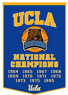 National Championship Banner for basketball - UCLA New York Basketball, Indoor Basketball Court, College Basketball, Basketball Shoes, Ucla College, College Hoops, Basketball Diaries, Thing 1, Ucla Bruins