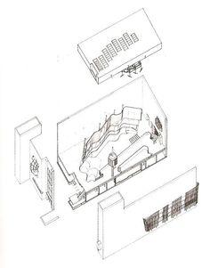 Subido por: Edu  Axonometria del Pabellón de Finlandia en Nueva York, EE.UU