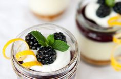 Blackberry Curd Cheesecake In A Jar