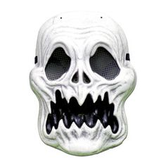 This scary ghoul Halloween mask is sure to scare someone when you wear it to your next Halloween party. Scary Halloween Masks, Scary Mask, Halloween Party, Party Supplies, Skull, Halloween Parties, Skulls, Sugar Skull