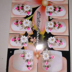 . Daisy Nails, Nail Envy, Holiday Nails, Picsart, Pedicure, Nail Designs, Hair Beauty, Nail Art, Polish Nails