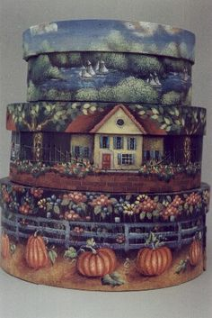 I would so love to paint these!! Beautiful design and awesome work!  Michele Walton: Stacking boxes