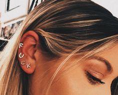 Ear Cuff, ruby, amethyst, Fake Piercing Earrings Cartilage Earring Chain Earrings Cuff no piercing Cartilage Piercing Ear Cuff Fairy Cuff - Custom Jewelry Ideas Nagel Piercing, Piercing Face, Pretty Ear Piercings, Ear Peircings, Body Piercings, Tongue Piercings, Unique Piercings, Bellybutton Piercings, Piercing Tattoo