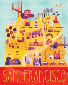 Here & There ilustraciones 1 San Francisco