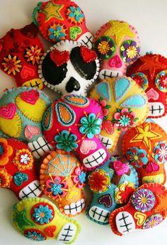 RP » sugar skull felt ornaments