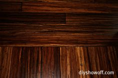 Bamboo floors (antiqued/distressed java from calibamboo)