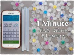1 Minute Art Hot Glue FLOWERS ♡ Maremi's Small Art ♡