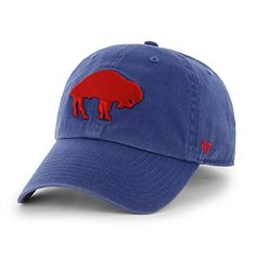 the latest 3e9b5 61109 Amazon.com   Buffalo Bills 47 Brand NFL Royal Blue Throwback Clean Up  Adjustable Hat   Sports   Outdoors