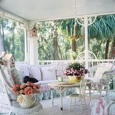 Art, Books, Tea: Shabby Chic Porch ~