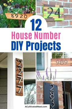 12 DIY House Number Projects- If you want to freshen up the outside of your home, you should try one of these DIY house number projects! They're great spring and summer projects to add curb appeal! | outdoor décor DIYs, #outdoorDecor #diyHouseNumbers #diyProjects #outdoorDIYs #ACultivatedNest Diy Furniture Renovation, Furniture Makeover, Furniture Ideas, House Number Plaque, Diy House Numbers, Jones Design Company, Fish House, Diy Home Repair, Cute House