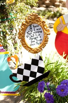"Alice quote display: ""I knew who I was this morning, but I've changed a few times since then."" <3"