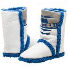 Star Wars R2D2 Boot Slippers. Must have.