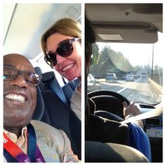 London eyes: Behind the scenes with TODAY staffers  - @SavannahGuthrie and me heading to downtown London via the dedicated Olympic Lane