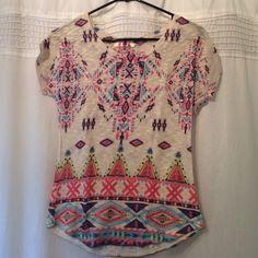 Gaye USA Aztec print knit shirt size small. Size small Aztec print knit shirt. Gaye USA Tops Blouses