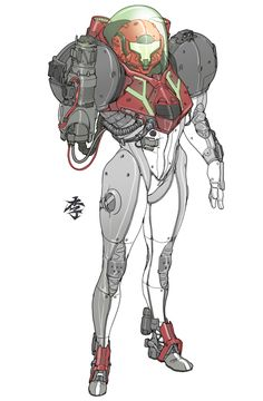 See more 'Metroid' images on Know Your Meme! Game Character Design, Character Concept, Character Art, Game Design, Design Ideas, Metroid Samus, Samus Aran, Metroid Prime, Armor Concept