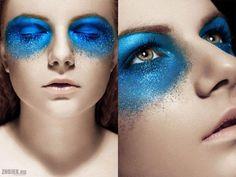 interesting blue make-up