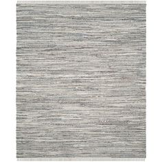 """Beachcrest Home Havelock Striped Contemporary Hand-Woven Gray Area Rug Rug Size: Runner 2'3"""" x 8'"""