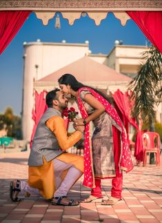 """Shubh Shagun """"Portfolio"""" album - Love Story Shot - Bride and Groom in a Nice Outfits. Pre Wedding Poses, Wedding Sets, Best Location, Couple Shoot, Love Story, Nice Outfits, Photoshoot Inspiration, Groom, Marriage"""