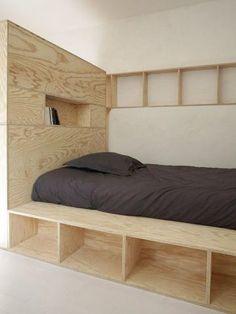 Un espace couchage bien délimité - Studio egoïne