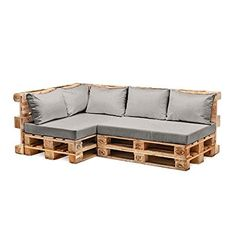 Grey Water Resistant Pallet Furniture 1 Piece Hollowfibre Back Cushion Only