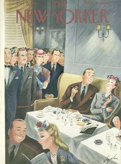 The New Yorker - Saturday, October 21, 1944 - Issue # 1027 - Vol. 20 - N° 36 - Cover by : Constantin Alajalov