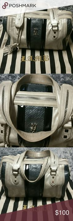 LAMB boston/speedy bag Preloved LAMB doctor's/speedy purse in frost/grey/black. Could use a good cleaning. Offers welcomed, NO TRADES! lamb Bags Totes