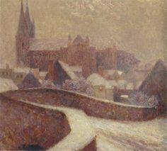 Henri Le Sidaner (1862 - 1939), The Cathedral at Chartres 1904 on ArtStack #henri-le-sidaner-1862-1939 #art
