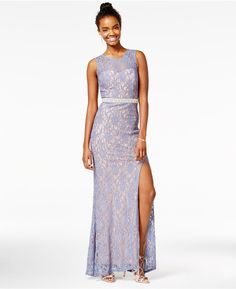 6a8930802 City Studios Juniors' Embellished Lace A-Line Gown, A Macy's Exclusive &  Reviews - Dresses - Juniors - Macy's