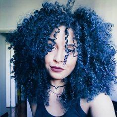 - Human Brazilian Hair Bundles Peruvian malaysian indian 360 Lace Front Wigs Natural Deep C - Colored Curly Hair, Blue Hair, Curly Hair Styles, Natural Hair Styles, Brazilian Hair Bundles, Natural Curls, Crazy Hair, Trendy Hairstyles, 1950s Hairstyles