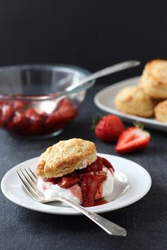Roasted Balsamic Strawberry Shortcakes | Completely Delicious