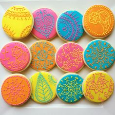 henna inspired decorated cookies, henna cookies, decorated cookies