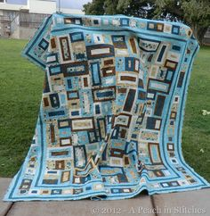 Blue and Brown Quilt