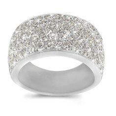 Pave Diamond Band in 18k White Gold