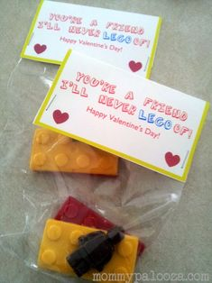 LEGO Valentines - fun with LEGO candy